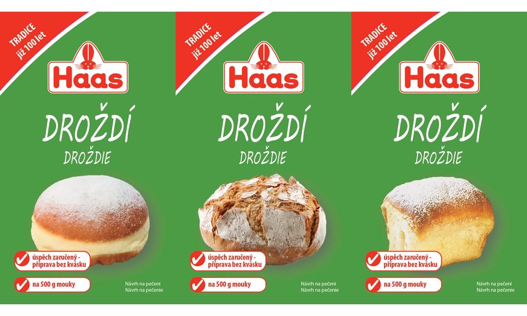 HAAS Droždie 3-pack